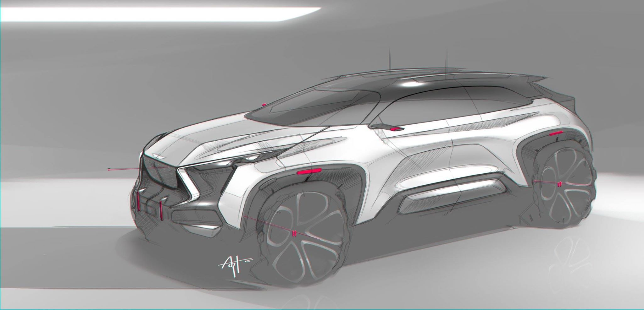 Arthur martins 2048 987 sketches voiture design et vehicule - Croquis voiture ...