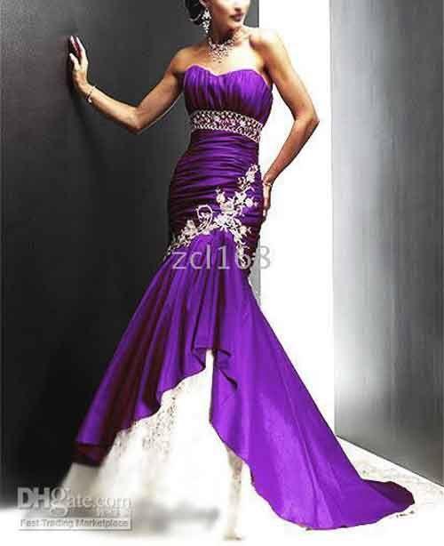 Purple and white wedding dress | Josh and Tahlia\'s Wedding ...