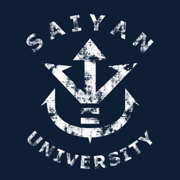Saiyan University white vintage