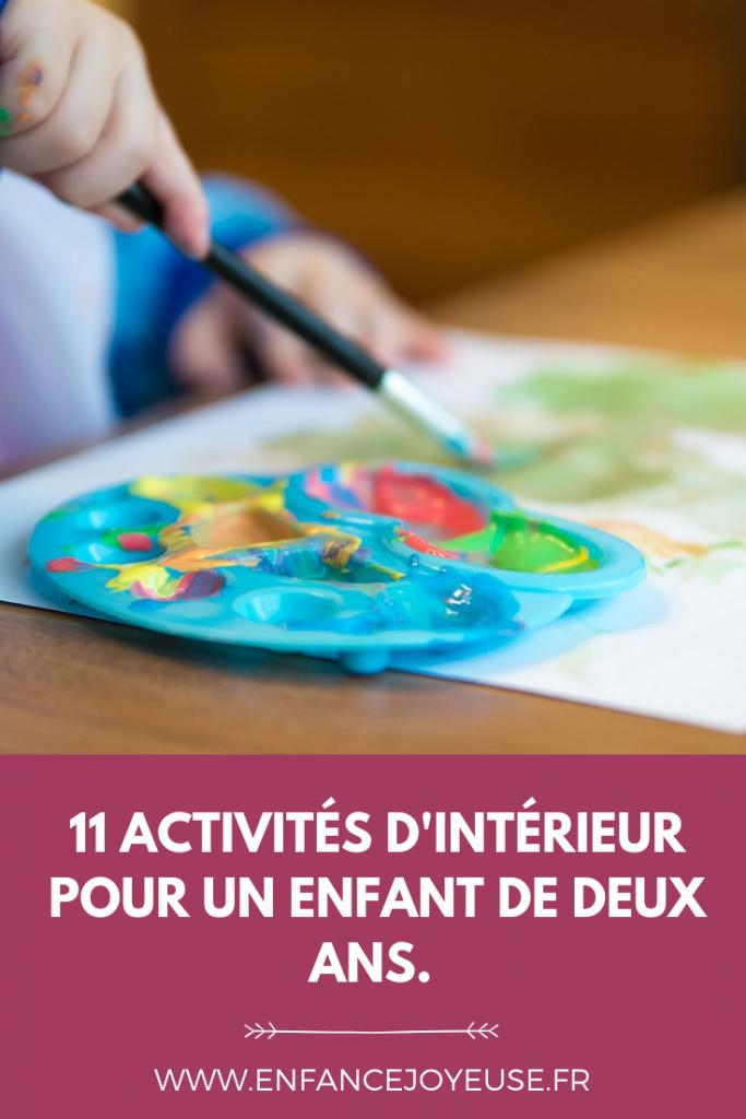 11 activités d'intérieur pour un enfant de 2 ans. - Enfance Joyeuse en 2020 | Jeux d'intérieur ...