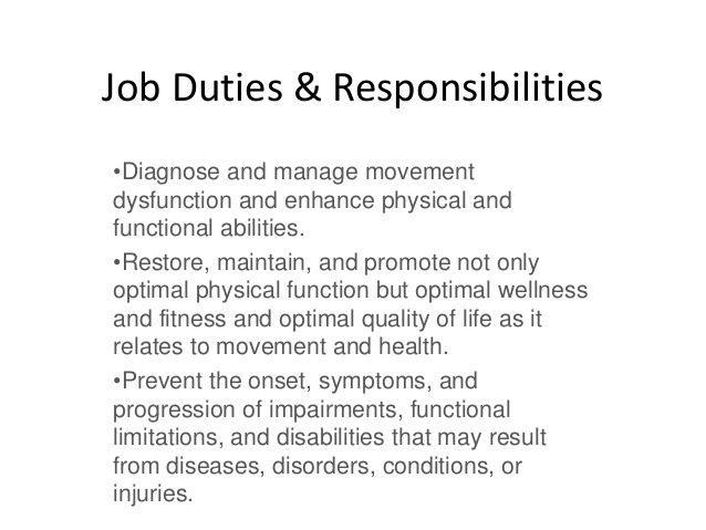 Physical Therapy Job Description Physical Therapy Aide Job