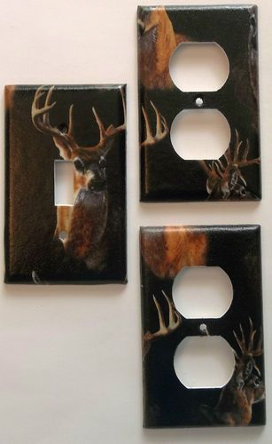 Deer Buck Hunting Wild Animal Light Switch Outlet Cabin Lodge Wall ...
