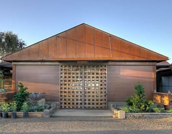 Houses With Galvanized Siding Rusted Metal Roofing R Panel Corrugated Metal Siding Corrugated Metal Roof George House