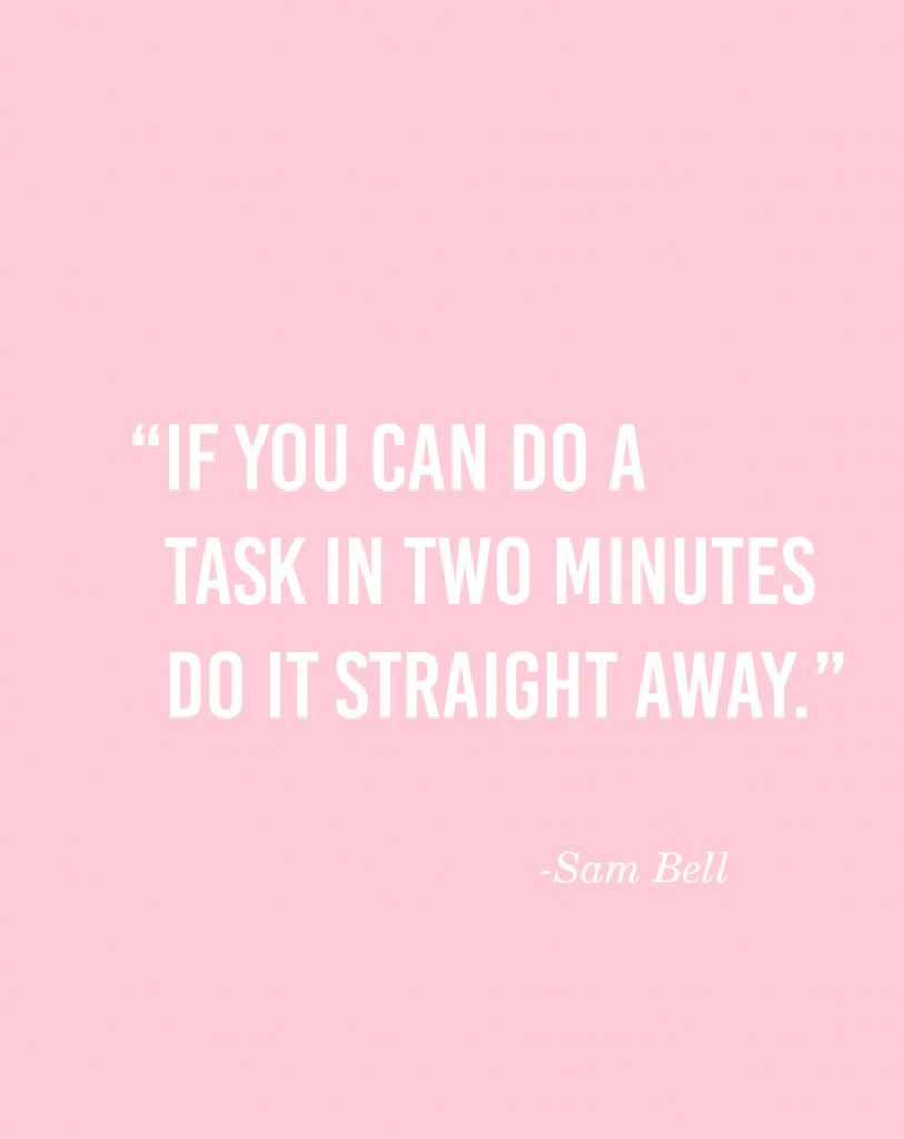 Keep to Your Tasks