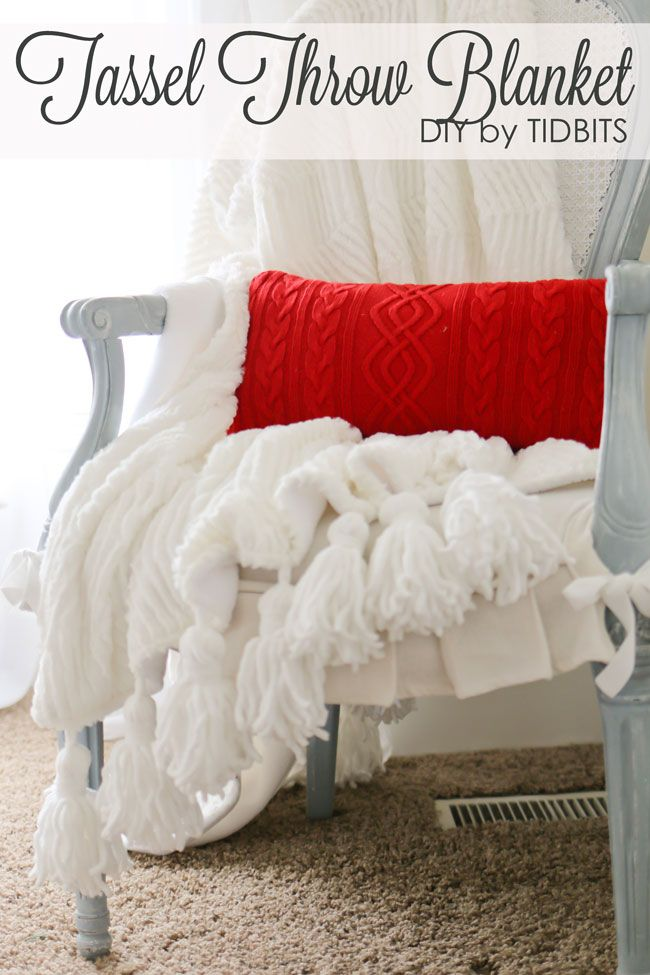 Tassel Throw Blanket DIY TIDBITS HOME Pinterest DIY Sewing Amazing Make Your Own Throw Blanket
