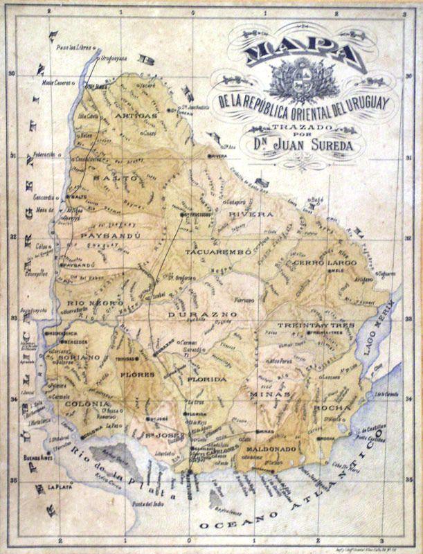 Mapa Uruguay Siglo Xix Cartografia Mapas Uruguay