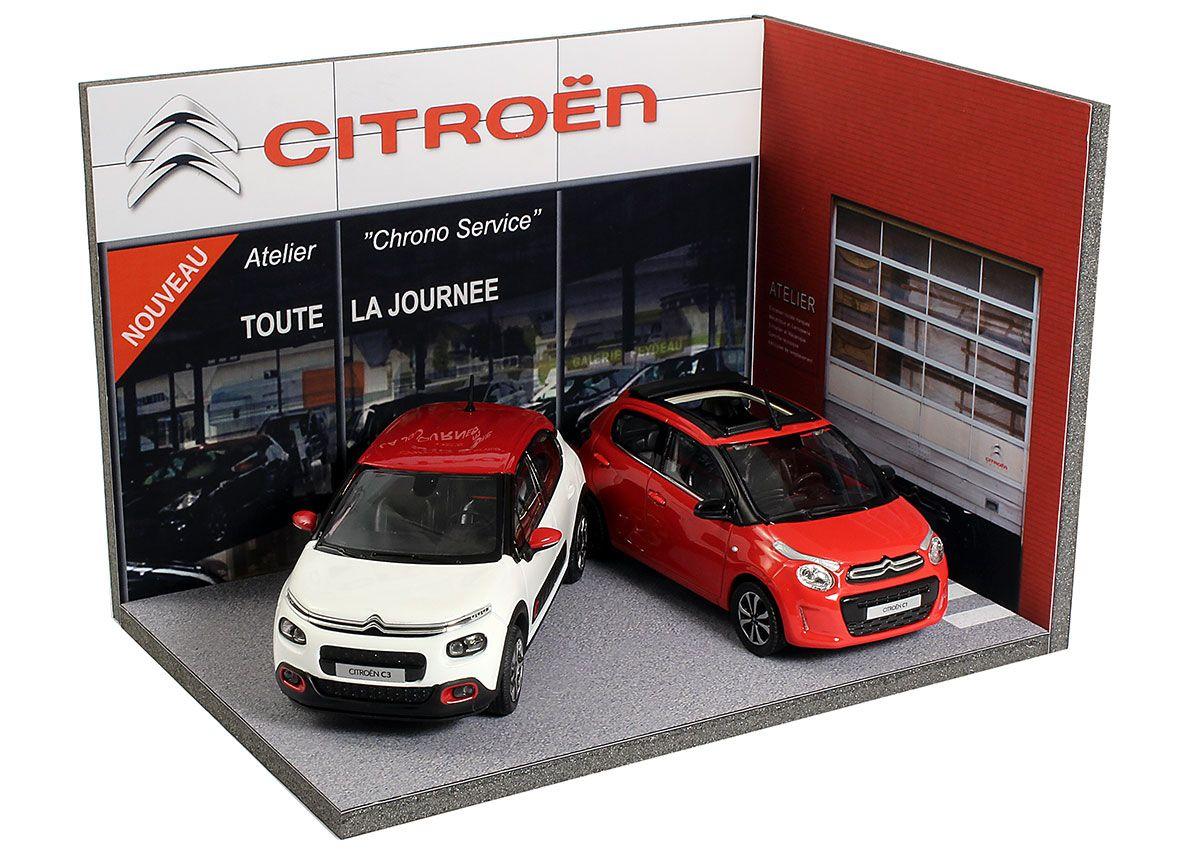 Diorama Concessionnaire Citroën Échelle 1 43ème Dimensions 100x145x100mm Référence 43 3a Y Ae 002 Voitures De Collection Diorama Auto