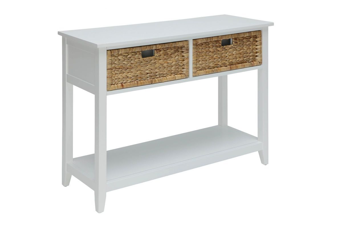 Flavius Console Table In White By Acme White Console Table Acme