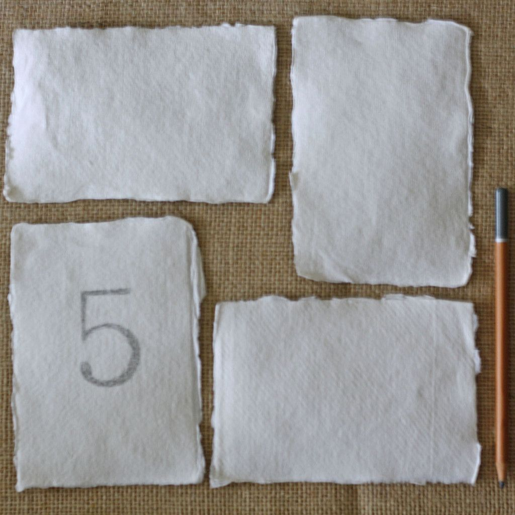 Handmade wedding decorations paper  Handmade Paper Postcards Torn Edges  Pack Of   Table numbers and