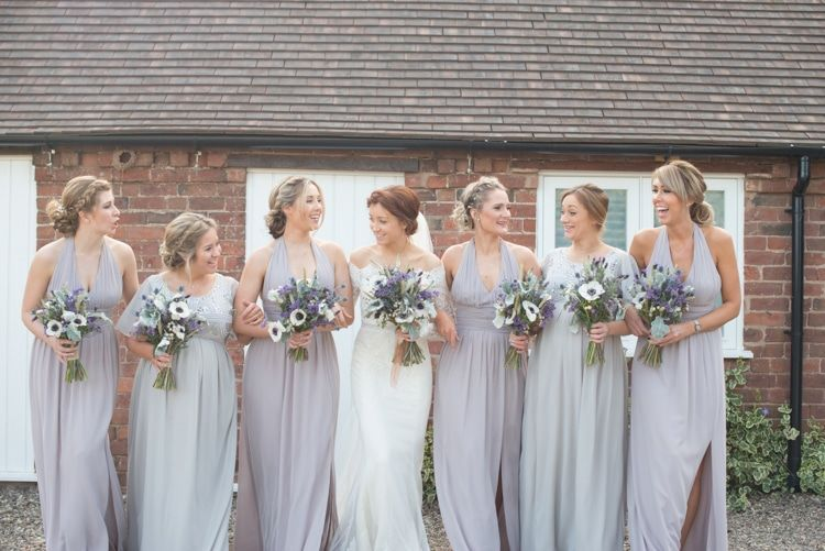 Long Bridesmaid Dresses Copper Dusky Lilac Grey Rustic Barn Wedding Kayleighpopecouk