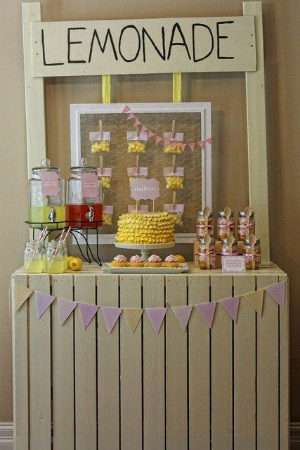 Lemonade and Sunshine Party #lemonade #sunshine
