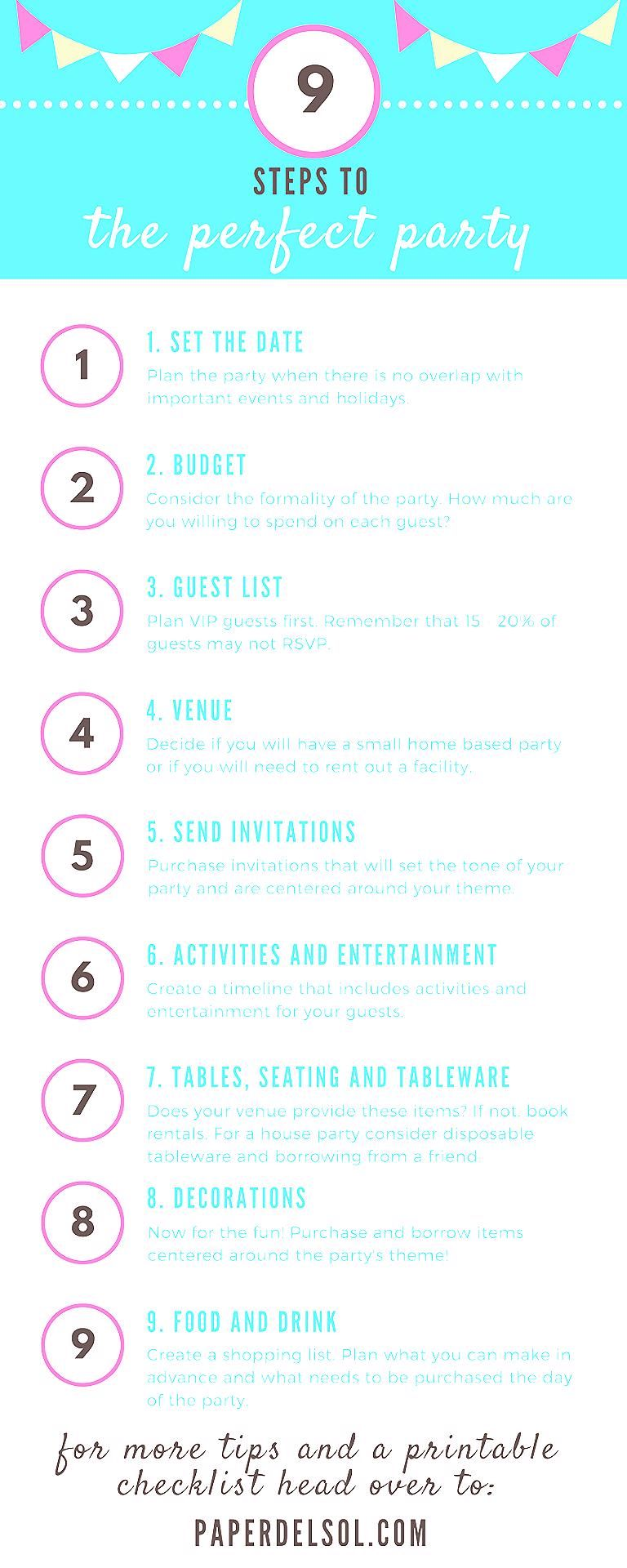 Photo of 9 Steps to Planning the Perfect Party and Party Planning Checklist