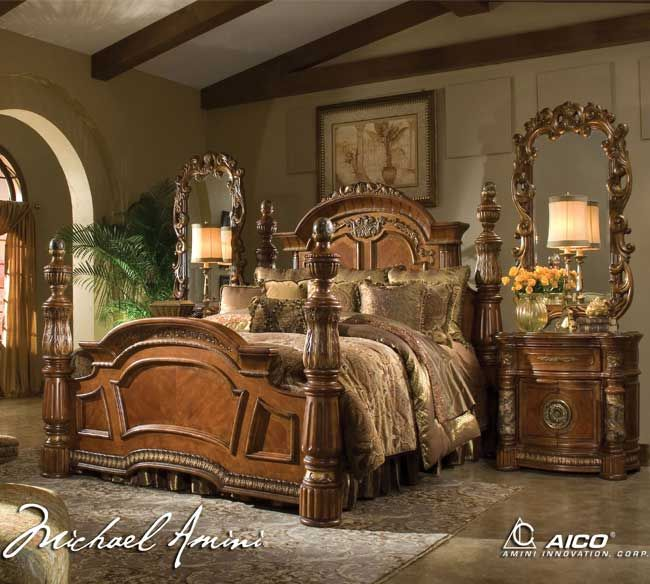 Michael Amini Excelsior Collection Bedroom | Michael Amini Villa Valencia  Poster Bed...THIS