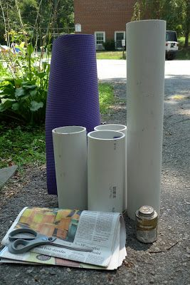 Make Your Own: Foam Roller from PVC pipe and a yoga mat