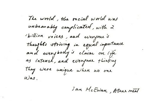 Enement Quotes | Atonement Ian Mcewan Book Quotes Quotesgram Words Of Wisdom