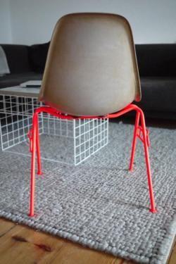 Eames Chair Stuhl Fiberglas Miller grau neon vitra industrial in ...