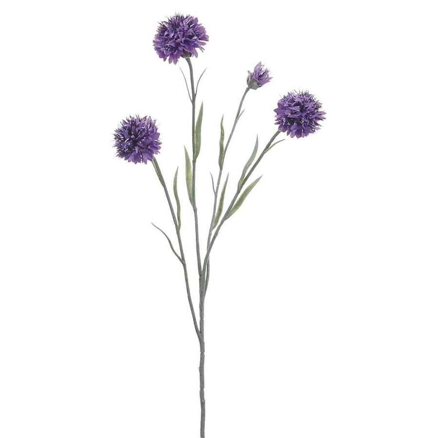 Cornflower Stem In Lavender Artificial Boutonniere Flowers Afloral Wedding Flower Stems Silk Flowers Wedding Lavender Wedding Flowers
