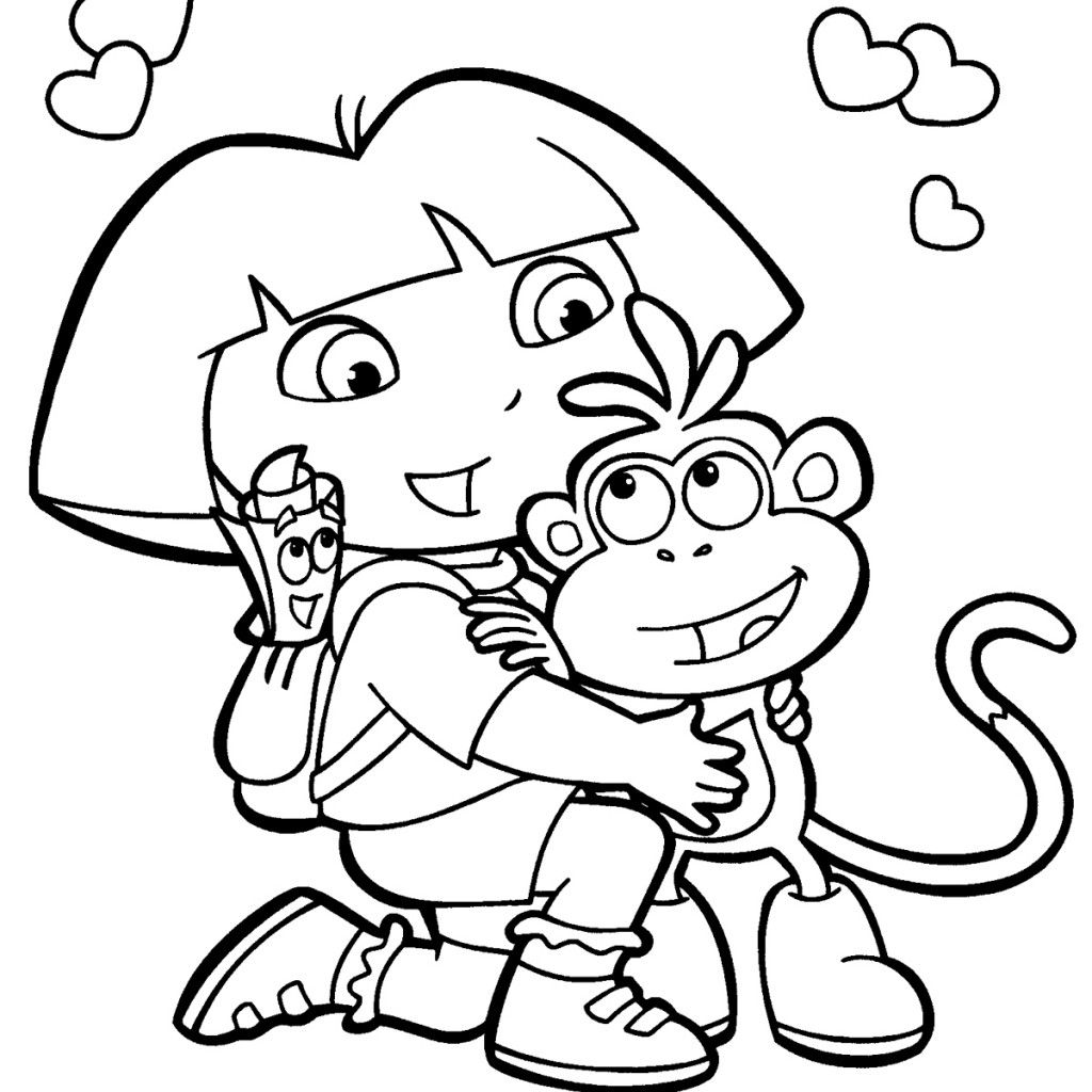 Dora The Explorer Coloring Pages Pdf