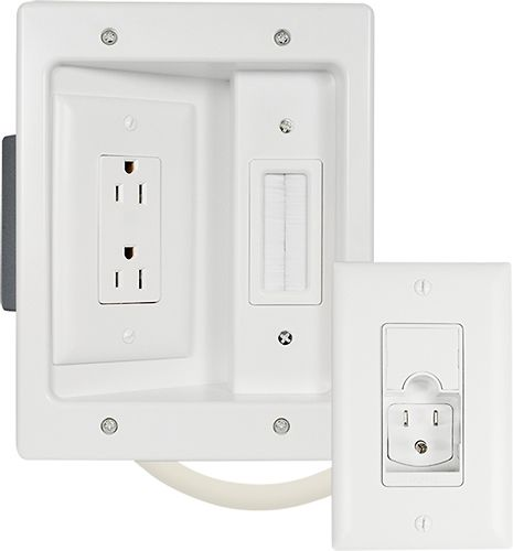 Legrand In-Wall TV Power Kit White HT2202-WH-V1 (With ...
