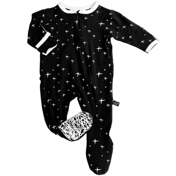 d61a9fe33 Peregrine Black Stars Footed Pajama