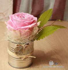 boite conserve vase centre de table table deco table mariage et centre de table. Black Bedroom Furniture Sets. Home Design Ideas