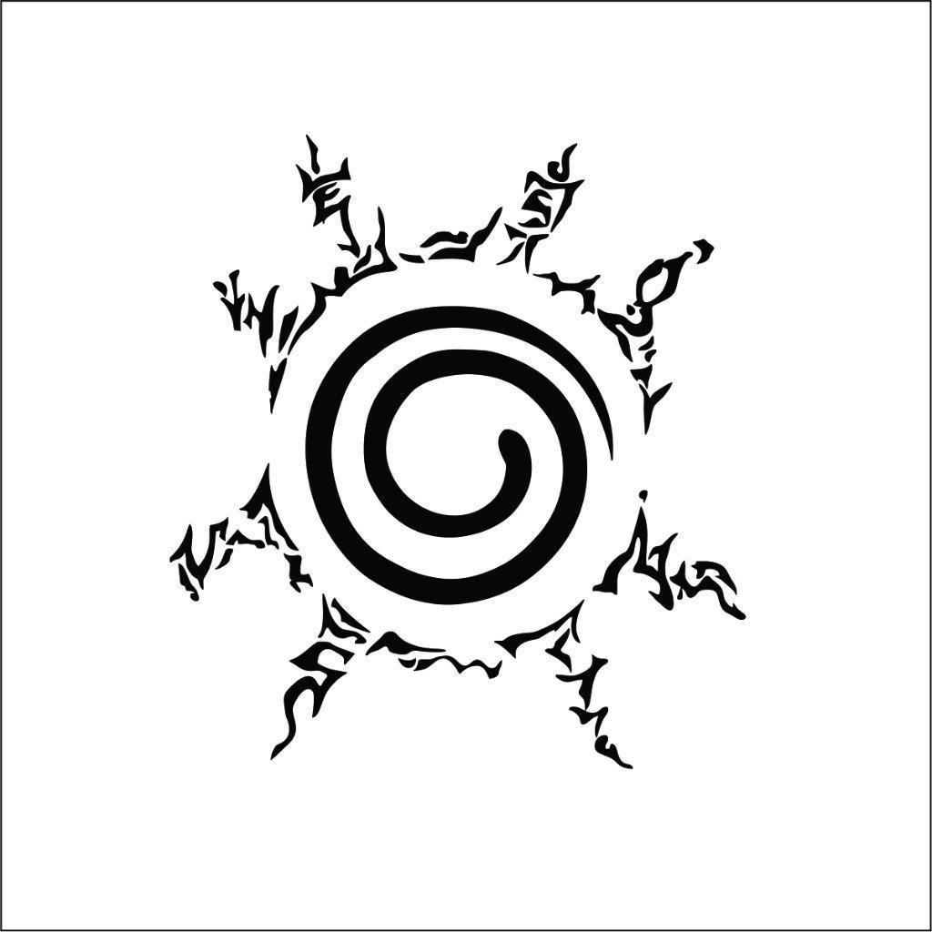 Naruto Uzumaki Logo Decal Car Window Laptop Tablet Wall Locker Sticker