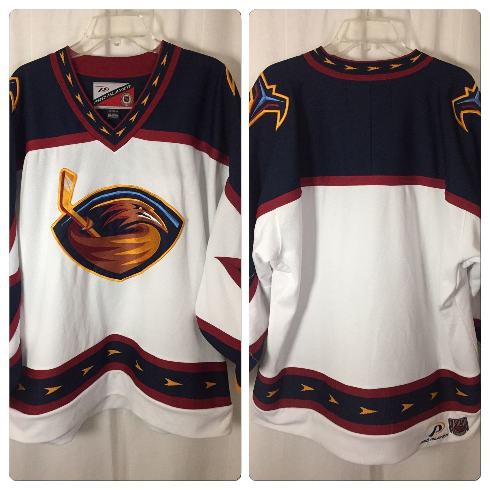 Vintage NHL Atlanta Thrashers CCM White Hockey Jersey XL Pro Player ... 52ddf0a93