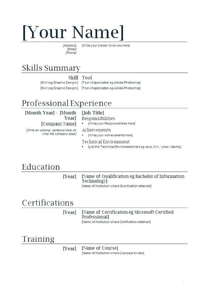 2018 resume templates good sample resumes for jobs first job