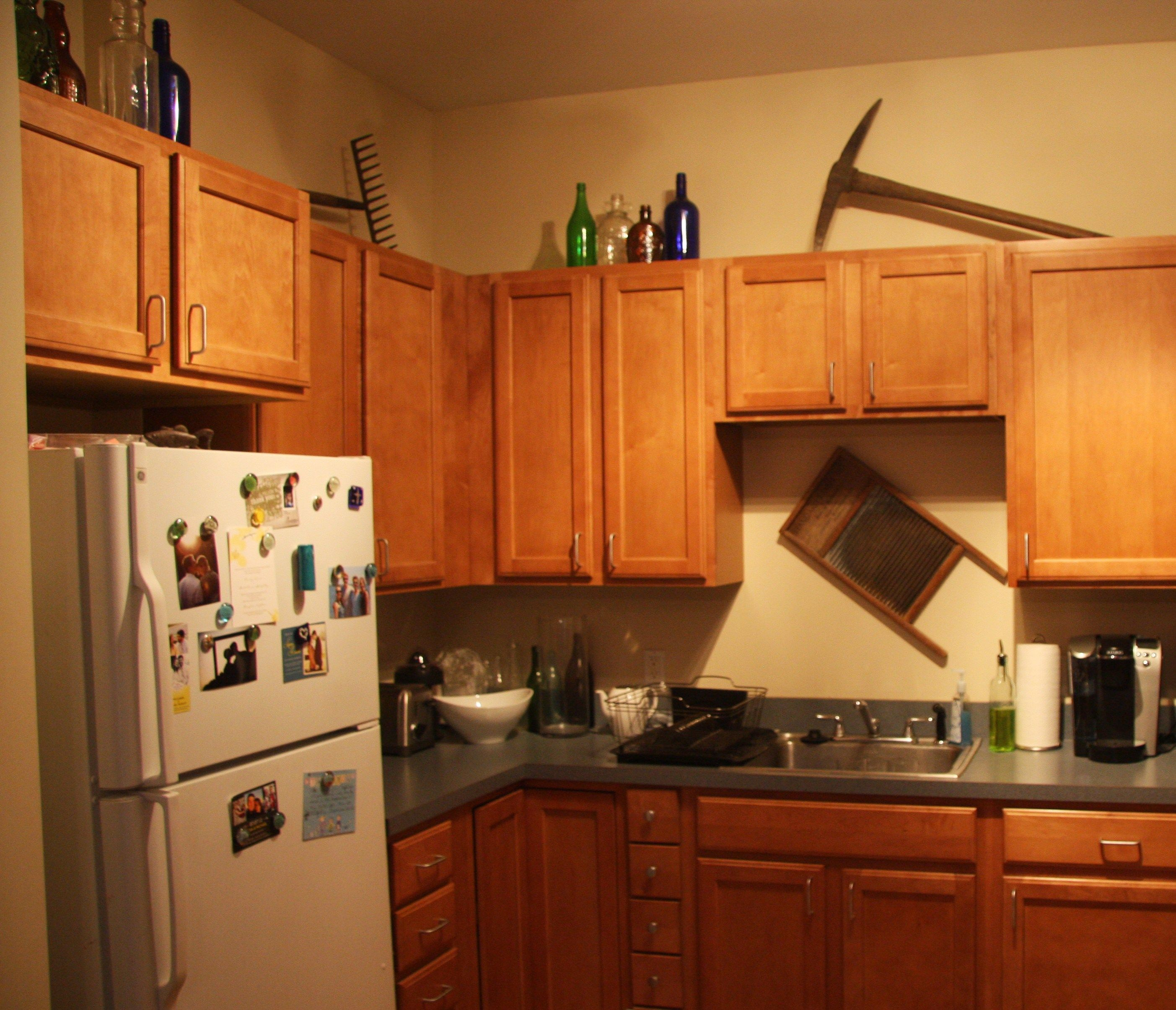 Garden Rake Pick Ax Top Cabinets Kitchen Cabinets Ideas ...