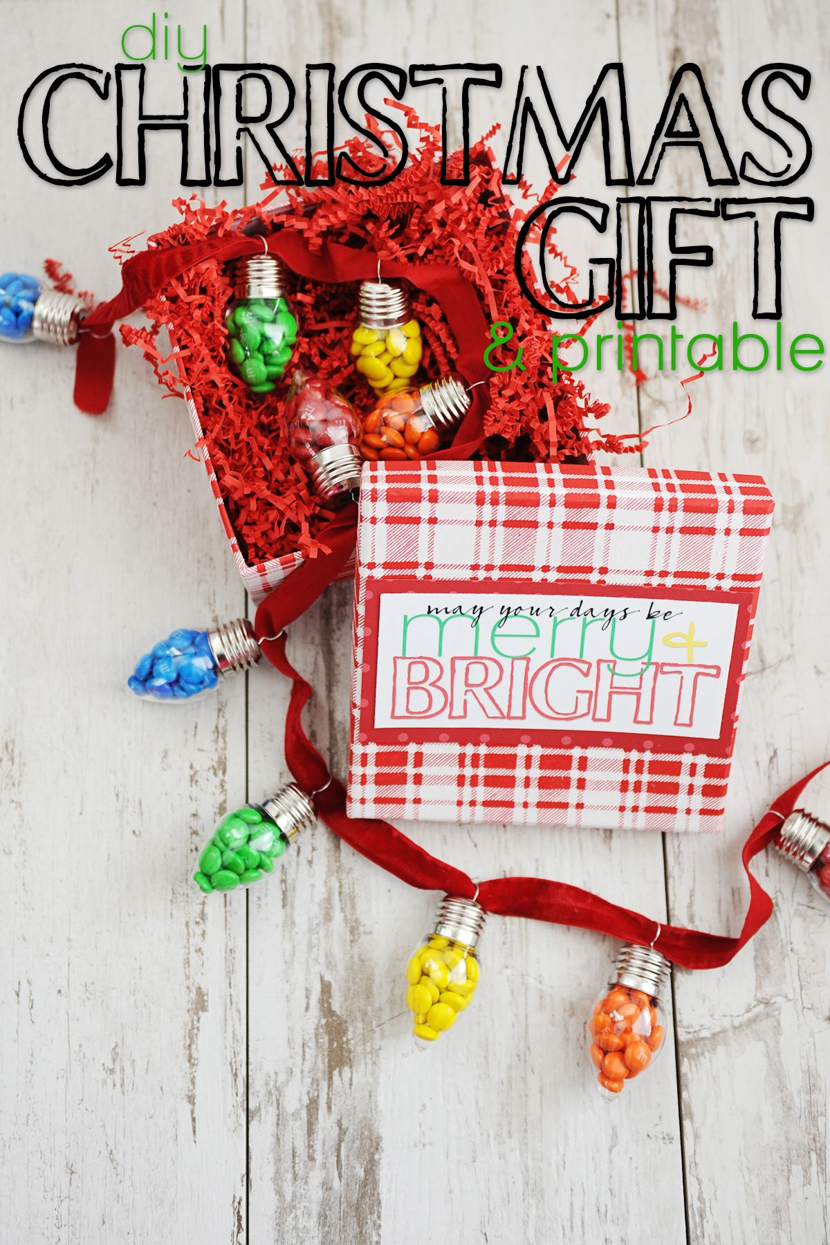 DIY Teacher Christmas Gift Idea and Free Printable | Teacher ...