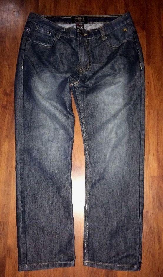 English Laundry Men S Straight Fit Jeans Dark Wash Stretch Denim