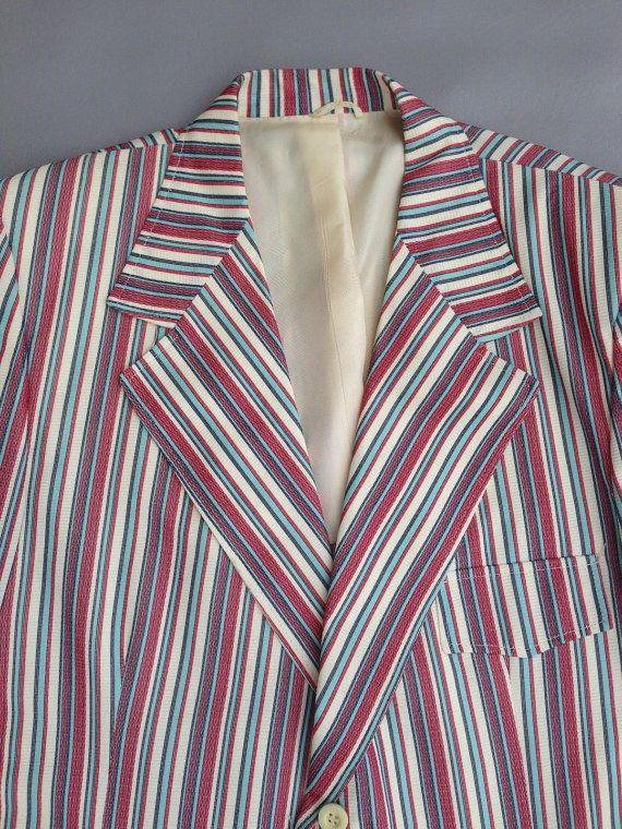 Vintage 1970's Striped Blazer/.Sport Coat Jacket Striped