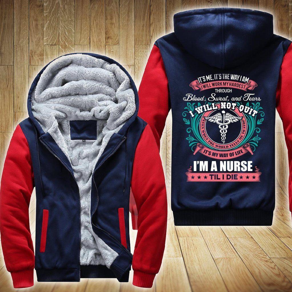 Nurse blood sweat u tears fleece jacket limited edition wearsaga