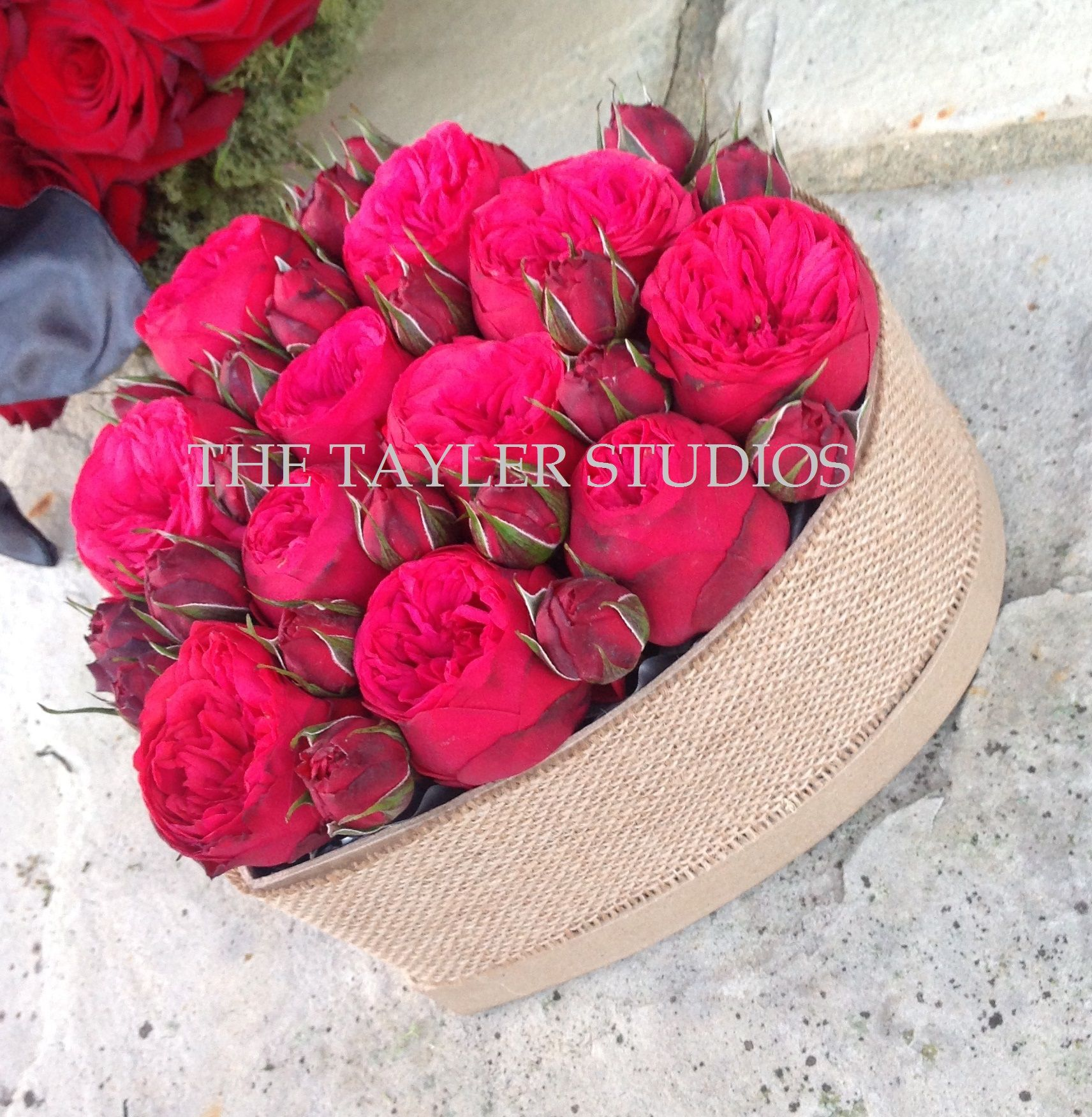 Exquisite Peony Rose display in keepsake Heart Box £67.50