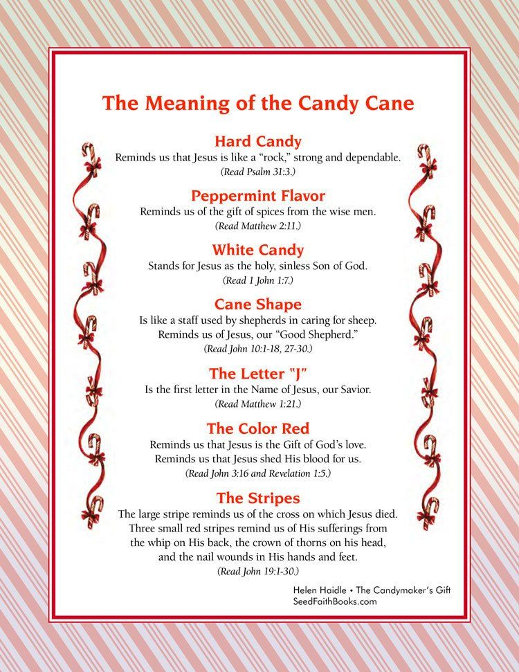 printable visual of the meaning of the candy cane 99 downloadthe - Hard Candy Christmas Meaning