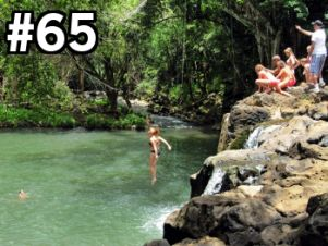 jump off waterfall