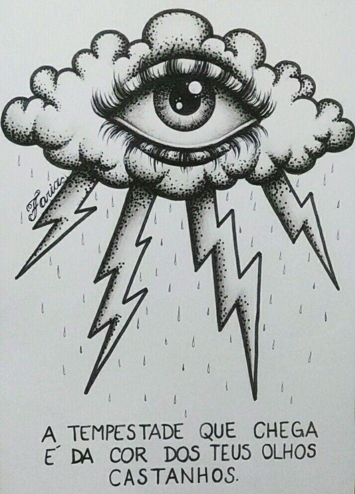 Legião Urbana Olho Tempestade Frases Desenho Ilustração Arte