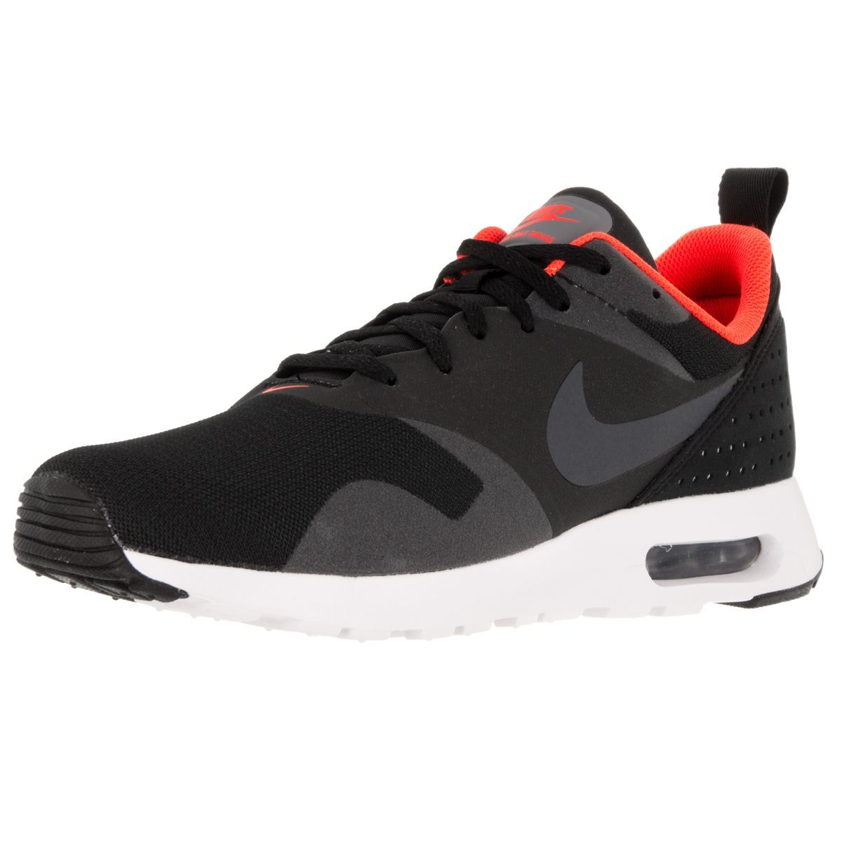 Nike Men's Air Max Tavas /Dark Grey/Total Crimson/White Running Shoe
