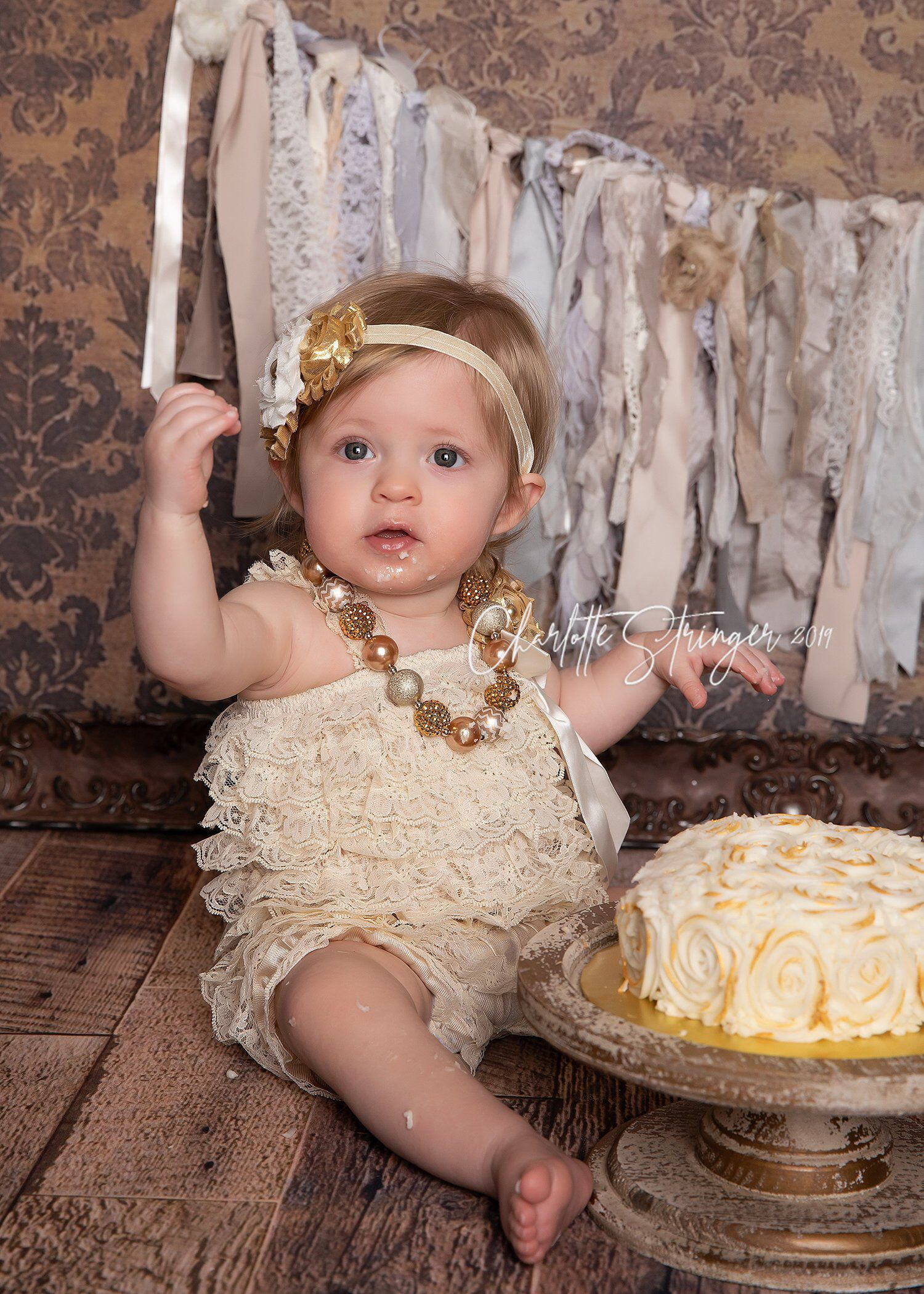 Baby girl 1st birthday outfit cake smash outfit