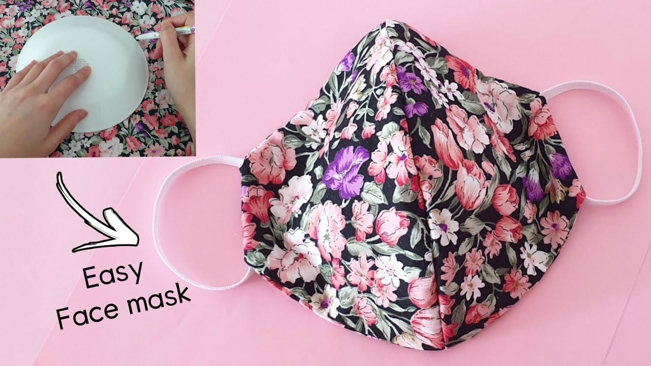 Make Fabric Face Mask At Home Mask Pattern Making With Plate Diy Easy Mask No Sewing Machine Youtube Easy Face Masks Easy Face Mask Diy Diy Face Mask