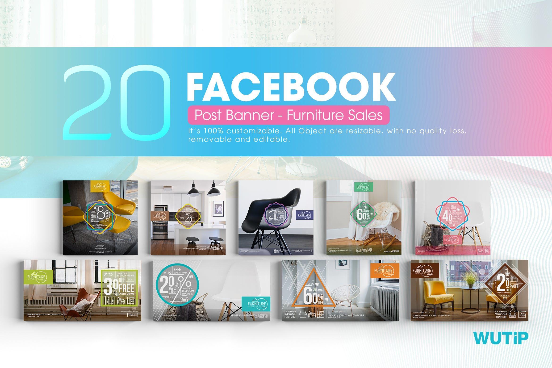 20 Facebook Post Banner - Furniture Sales #banner