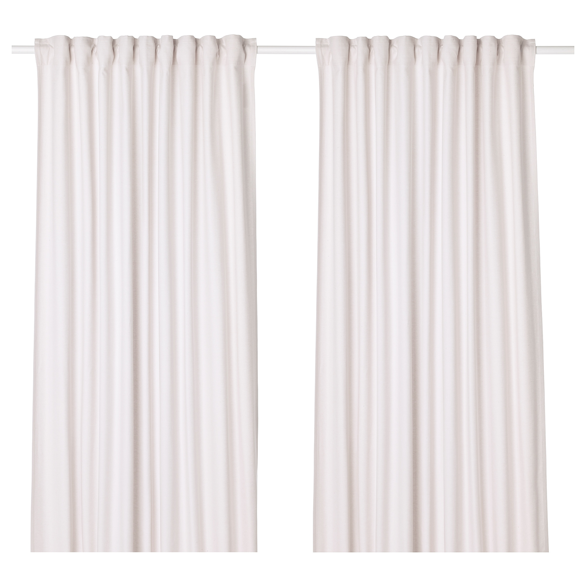 Tibast Curtains 1 Pair Beige 57x98 Ikea Curtains Curtains With Rings Ikea
