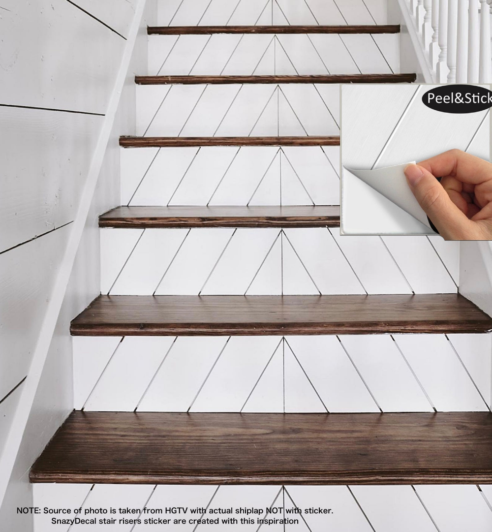 15 strips of Stair Riser Vinyl Decal Removable Sticker