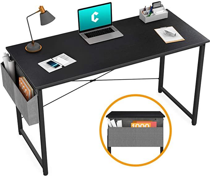 Amazon Com Cubiker Writing Computer Desk 39 Home Office Study Desk Modern Simple Style Laptop Table With In 2020 Small Computer Desk Simple Computer Desk Study Desk