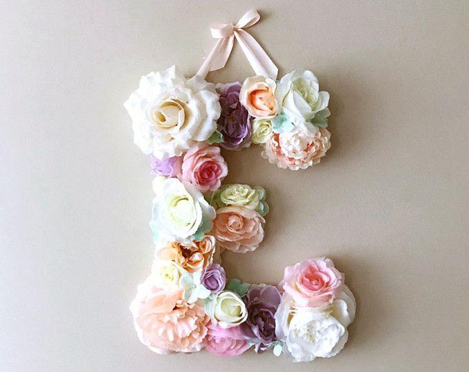 Blumen Buchstaben 15 19 24 Baby Buchstaben