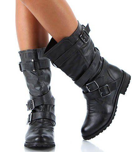 1540d4b80d838 Wild Diva Tina-13a Buckle Riding Combat Biker Boot Wild Diva, http:/