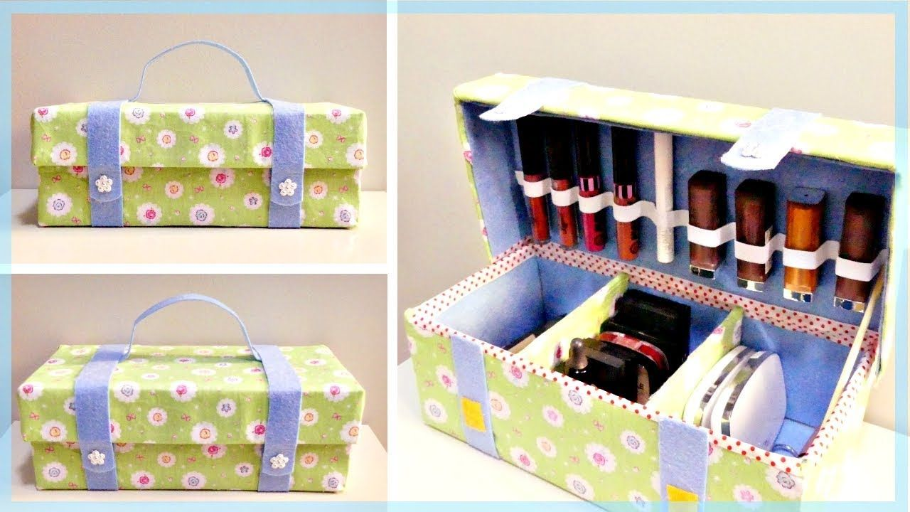 Diy Organizer Bag How To Make A Cosmetic Organizer Bag From Shoe