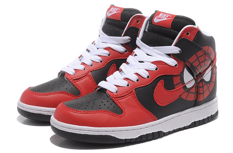Purchase Nike Dunk SB High Top Men Spiderman Black Red Shoes Shoes .
