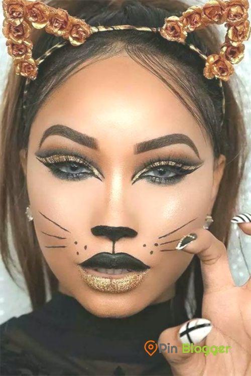 Halloween Schminke Katze.15 Halloween Katze Gesicht Make Up Ideen Fur Madchen Und Frauen 2018 Hallo Frauen Fur Gesicht Hallo Make Up Gesicht Katzen Make Up Katze Schminken
