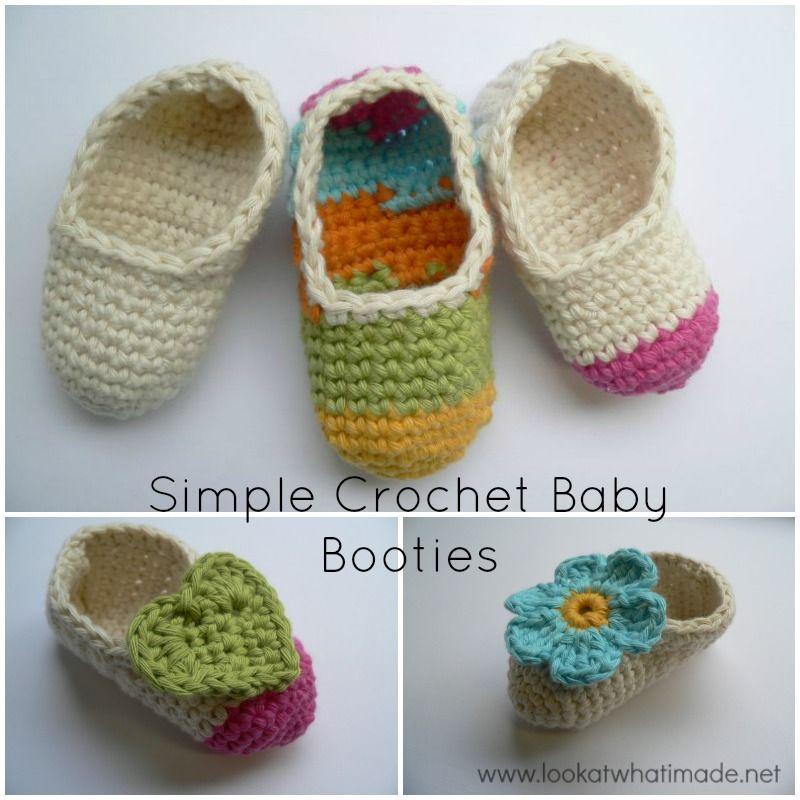Free Customizable Crochet Baby Booties Pattern | zapatos | Pinterest ...